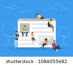 web site surfing concept vector ... | Shutterstock .eps vector #1086055682