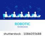 robotic technologies for online ... | Shutterstock .eps vector #1086055688