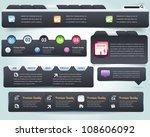 web elements vector design set   Shutterstock .eps vector #108606092