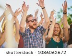 group of people dancing and...   Shutterstock . vector #1086062672