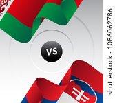 belarus vs slovakia. ice hockey ... | Shutterstock .eps vector #1086062786