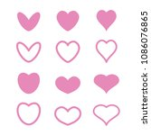 many heart styles | Shutterstock .eps vector #1086076865