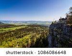 beautiful view on szczeliniec... | Shutterstock . vector #1086086648