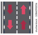 road isolated vector icon  | Shutterstock .eps vector #1086090056