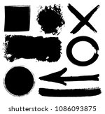 hand drawn scribble symbols... | Shutterstock .eps vector #1086093875