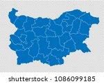 bulgaria map   high detailed... | Shutterstock .eps vector #1086099185