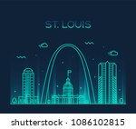 St. Louis City Skyline ...