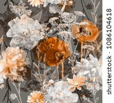 art vintage blurred monochrome... | Shutterstock . vector #1086104618