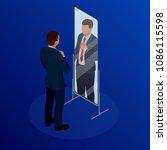 isometric businessman adjusting ...   Shutterstock .eps vector #1086115598