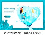 vector concept illustration  ... | Shutterstock .eps vector #1086117098