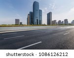 empty road with modern business ... | Shutterstock . vector #1086126212