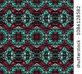 embroidery colorful pattern... | Shutterstock .eps vector #1086128582