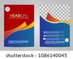 business brochure flyer design... | Shutterstock .eps vector #1086140045