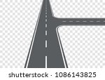road. intersection on right.... | Shutterstock .eps vector #1086143825