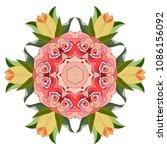 mandala design flower pattern. ... | Shutterstock .eps vector #1086156092