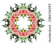 mandala design flower pattern. ... | Shutterstock .eps vector #1086156095