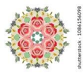 mandala design flower pattern. ... | Shutterstock .eps vector #1086156098