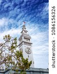 the clock tower at embarcadero... | Shutterstock . vector #1086156326