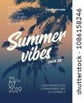 summe vibes poster template.... | Shutterstock .eps vector #1086158246