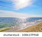 seasacpe view with bright blue... | Shutterstock . vector #1086159968