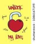 typography slogan unlock my... | Shutterstock .eps vector #1086167195