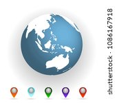 vector illustration world map... | Shutterstock .eps vector #1086167918