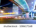 traffic through modern city at... | Shutterstock . vector #108617168
