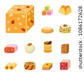 east delicious dessert sweets... | Shutterstock .eps vector #1086172628