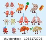 human organs healthy and... | Shutterstock .eps vector #1086172706