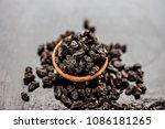 organic dry fruit dried black... | Shutterstock . vector #1086181265