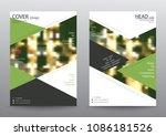 annual report brochure flyer...   Shutterstock .eps vector #1086181526