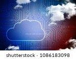 2d rendering cloud computing    Shutterstock . vector #1086183098