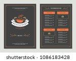 sushi restaurant menu design...   Shutterstock .eps vector #1086183428