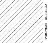 black and white diagonal brush  ... | Shutterstock .eps vector #1086183665