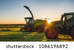 working agicultural machinery... | Shutterstock . vector #1086196892