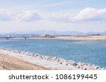 pastel effect photo of city... | Shutterstock . vector #1086199445