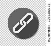 link icon. hyperlink chain... | Shutterstock .eps vector #1086200336