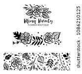 flower logo template. bloom... | Shutterstock .eps vector #1086210125