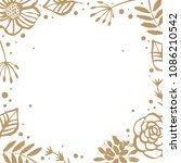flower frame template for... | Shutterstock .eps vector #1086210542
