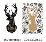 Silhouette Of Deer In The...