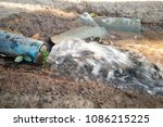 water or waste water from the... | Shutterstock . vector #1086215225
