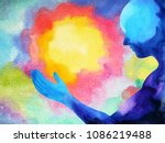 human and spirit powerful... | Shutterstock . vector #1086219488