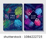 creative floral covers design.... | Shutterstock .eps vector #1086222725