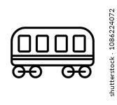 cargo wagon icon. flat... | Shutterstock .eps vector #1086224072