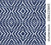 kaledoscope indigo dyed effect... | Shutterstock . vector #1086225845