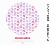 blood donation  charity  mutual ... | Shutterstock .eps vector #1086226406