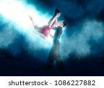 pair of dancers dancing... | Shutterstock . vector #1086227882
