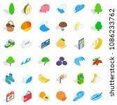 vital icons set. isometric... | Shutterstock . vector #1086233762
