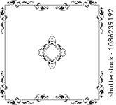 frame border design vector art... | Shutterstock .eps vector #1086239192