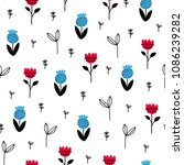 seamless creative pattern.... | Shutterstock .eps vector #1086239282